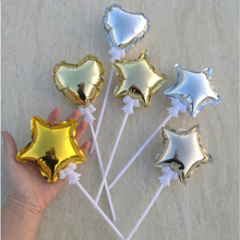 1PCS 4 inch 10cm Mini Balloon Cake Decoration Automatic Inflatable five-pointed Star Love Balloon Party Cake Decoration Supplies inflatable lighting star for party decoration