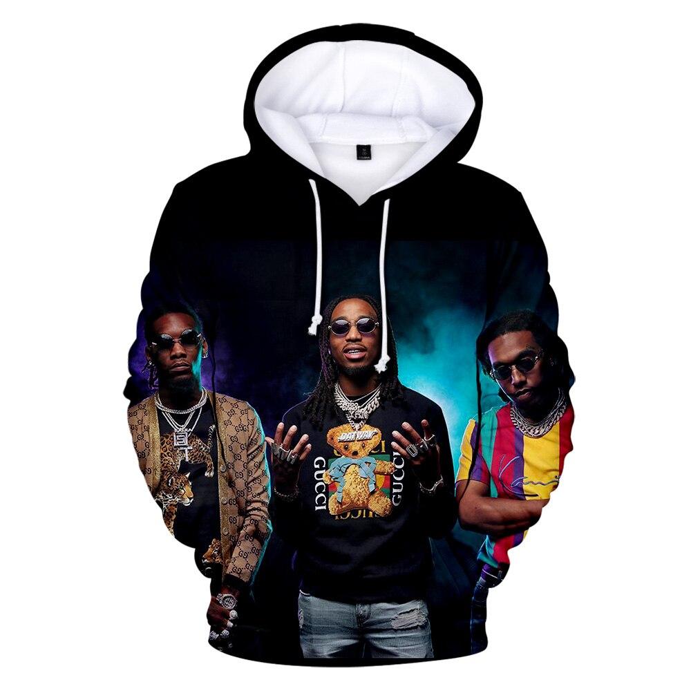 LUCKYFRIDAY Migos Rapper Character Print Men's Hoodies Sweatshirt 3D Printing Hip Hop Pattern Women Fashion Sweatshirt Hoodies