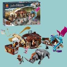 С фантастическими животными Ньют случае магических существ здания Конструкторы игрушечные лошадки Совместимость Legoings 75952 Харри Поттер фильм