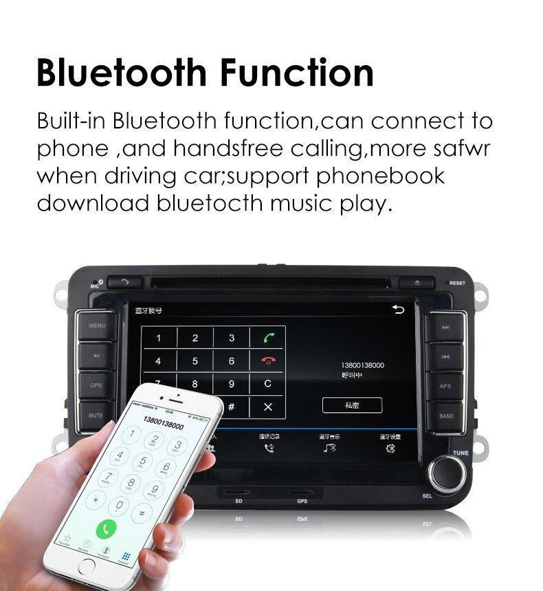 Autoradio 2 Din 7 ''HD pour VW POLO GTI GOLF 5 6 MK5 MK6 JETTA PASSAT B6 Touran Sharan avec Radio de Navigation GPS RDS