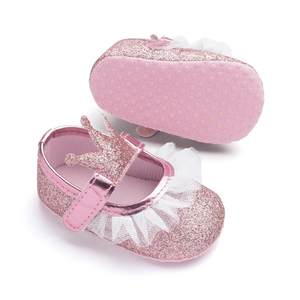 Crown Shoes Moccasins First-Walkers Newborn Girls Baby Princess Lace PU