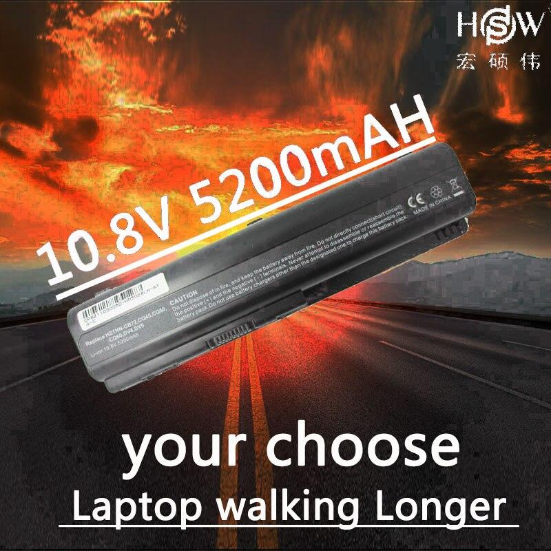 HSW 5200 MAH 6 סוללה למחשב נייד סלולרי עבור HP Pavilion DV4 DV5 DV6 CQ40 CQ41 CQ45 CQ50 CQ60 CQ61 QC70 CQ71 G50 G60 G70 G71 סוללה