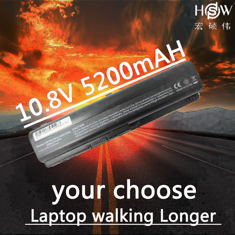 HSW 5200MAH 6cell Laptop Battery For HP Pavilion DV4 DV5 DV6 CQ40 CQ41 CQ45 CQ50 CQ60 CQ61 QC70 CQ71 G50 G60 G70 G71 bateria aqjg 18 5v 3 5a 65w laptop notebook power charger adapter for hp pavilion g6 g56 cq60 dv6 g50 g60 g61 g62 g70 g71 g72