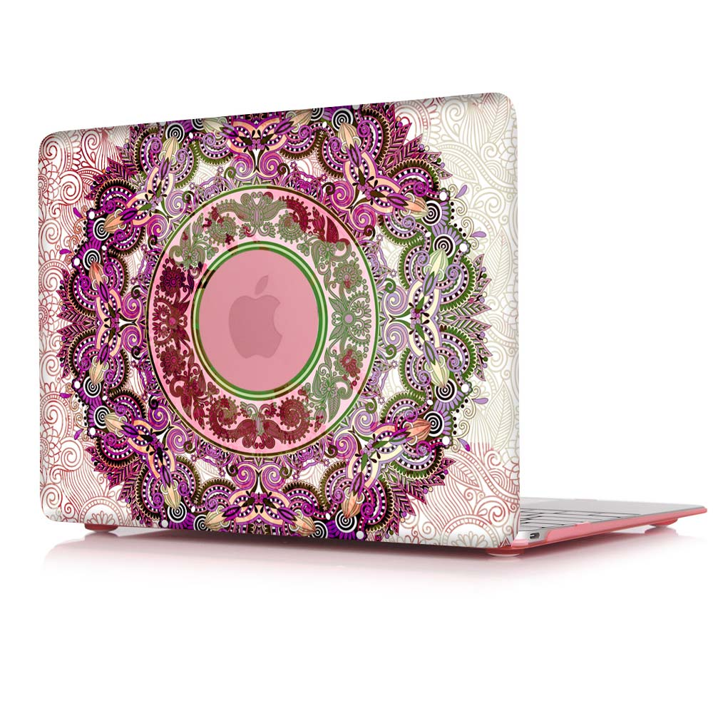 Macbook Air Cover Pattern ~ Fashion unique colors retro pattern printed case for