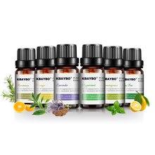 12 бутылок 10 мл чистых эфирных масел для ароматерапии Диффузоры Лаванда Чайное дерево Лемонграсс Апельсиновое масло розмарина Домашний воздух