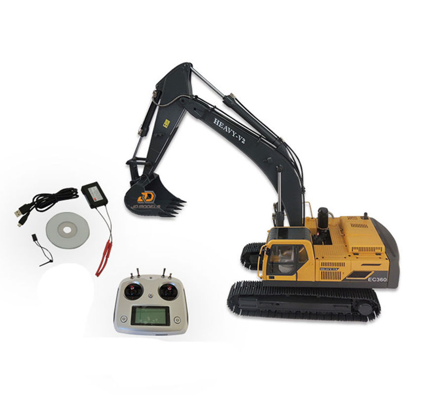 JDM-106 V2 1/12 RC jouet télécommande en métal pelle hydraulique modèle-106 enfant garçon cadeaux de noël