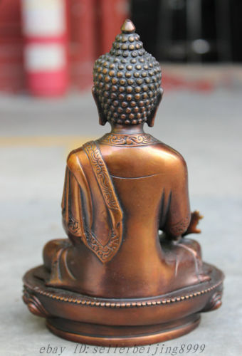 Copper decor Brass Chinese Statue wholesale factory Tibet Buddhist Pure Bronze Buddhist Joss Lotus Shakyamuni Buddha StatueCopper decor Brass Chinese Statue wholesale factory Tibet Buddhist Pure Bronze Buddhist Joss Lotus Shakyamuni Buddha Statue