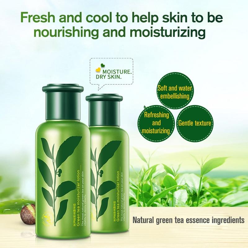 ROREC Face Emulsion Facial Moisturizer Hydrating Green Tea Formula Lotion Anti Aging Wrinkle Care Soothing Face Moisturizing