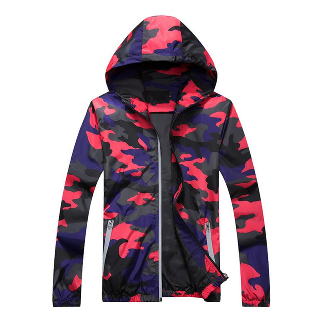 Plus Size 5XL Spring Autumn Jacket Mens Casual Camouflage Hoodie Jackets And Coats Clothes Men's Windbreaker Coat Male Outwear  5