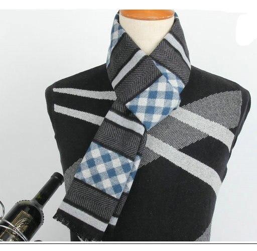 2015 осень зима шарф в полоску толщиной кашемир мужчины шарф мода свободного покроя низкая шарф мужчин аудитория серийной модели