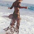 New Women dress Sexy Mesh Swimwear Beach maxi Dress high quality for women summer clothing #5