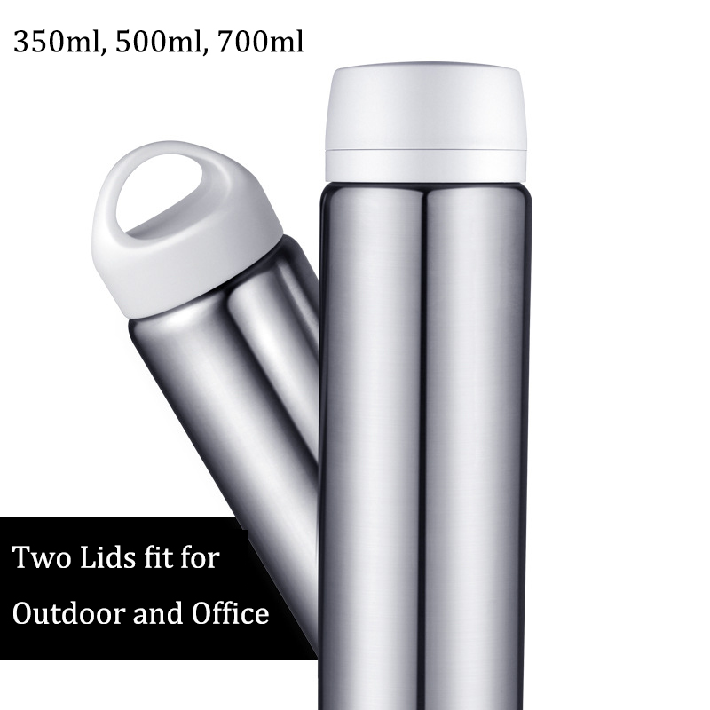 2way stainless steel insulated thermos with two caps thermal bottle of water coffee travel mug a termos cup 350 ml 500ml - Coffee Travel Mugs