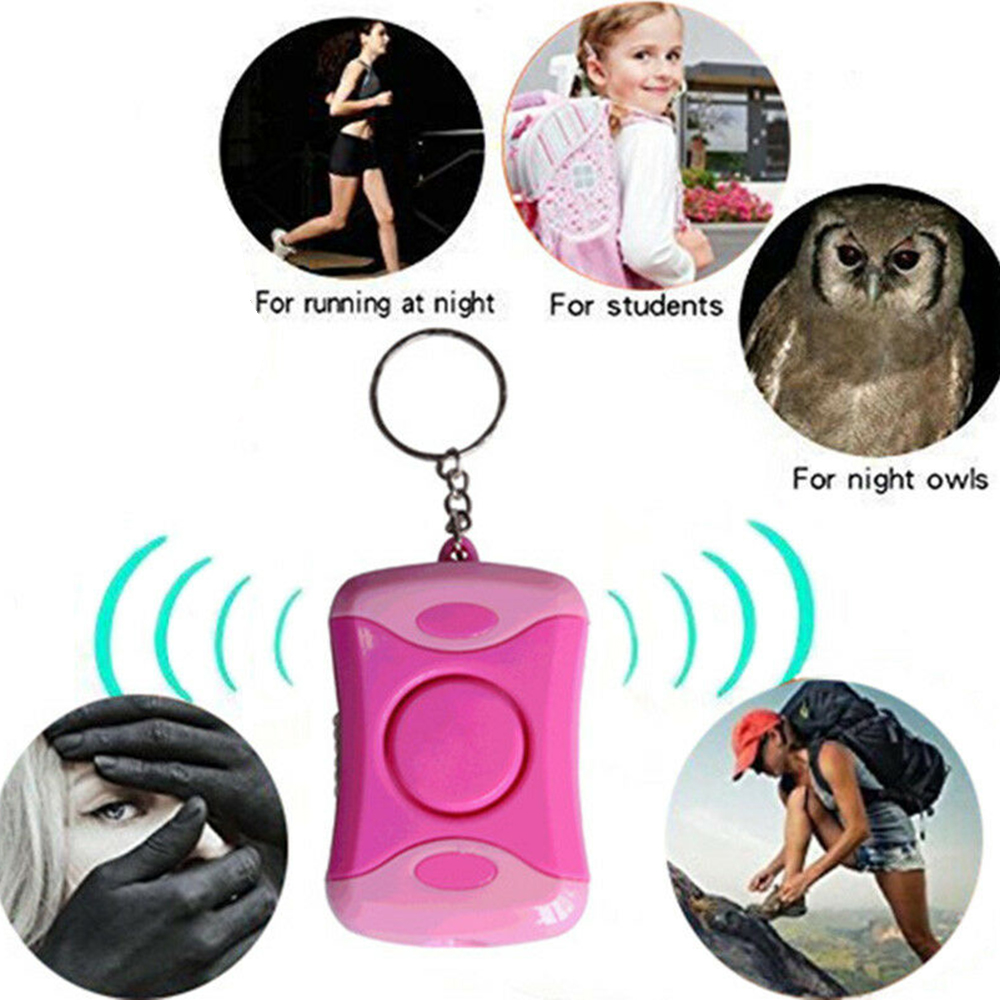 Personal Safety Alarm Emergency Self Defense Security Wolf Auto Alarme Seguridad Anti Rape Anti-Attack With Light Keychain New