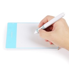 Nueva Huion 420 moda Digital tableta Digital firma profesional tableta gráfica tableta tableta de dibujo con MINI USB azul