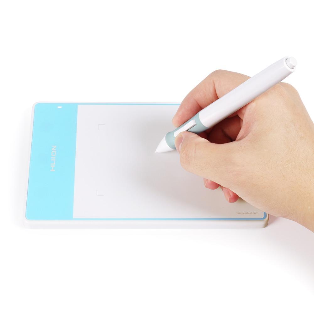 Prix pour Nouveau huion 420 mode osu numérique tablet professionnel signature tablet tablette graphique dessin tablet avec mini usb bleu