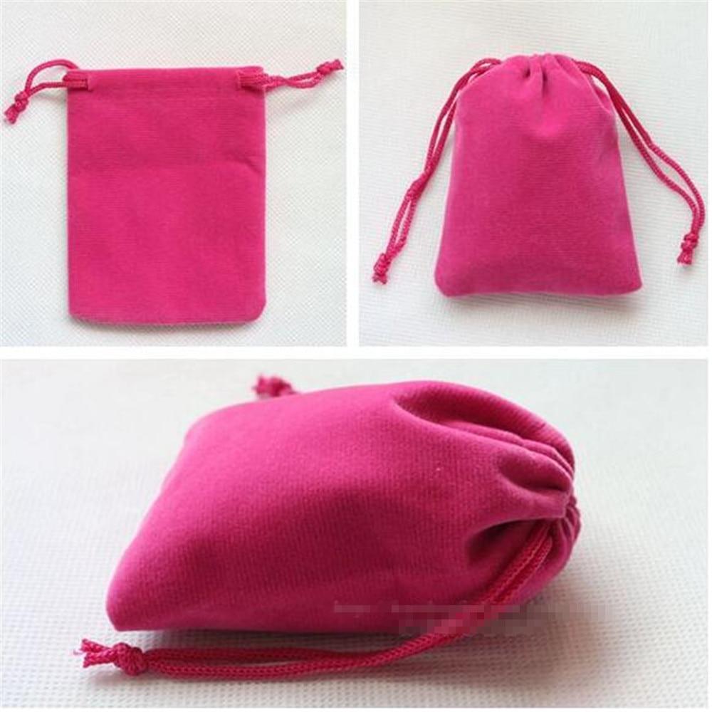 Wedding Gift Pouches: 2016 New Cheap 80x100mm Velvet Drawstring Pouch Bag