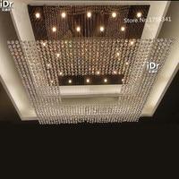 Große hotel Luxus lampe lobby halle kristall lampe kristall lampe leuchten Engineering clubhaus lobby Kronleuchter-in Kronleuchter aus Licht & Beleuchtung bei