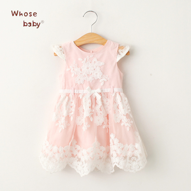 Girls Dresses Lace Flower Girls Clothing Princess Infant Dress Fashion Children Clothes Robe Fille Summer 2017 Costume For Kids  girls summer dress kids clothes 2017 brand baby girl dress with flower robe fille princess dress children clothing