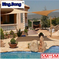 Sun shade sail 5*5m square sunscreen HDPE shading net anti uv waterproof toldo awning fabric gazebo for garden swiming pool