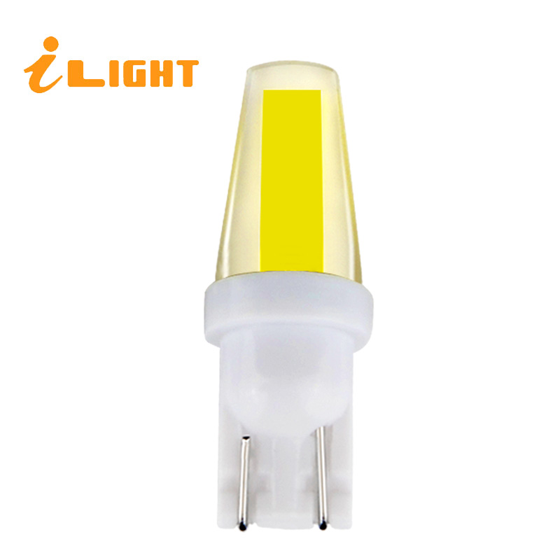 T10 LED Bulbs W5W Auto COB Lamps 12V Super Car Light for License Plate Light Trunk Turn Signal Light Bulbs For Car 6000K iLight nao 6pcs t10 led w5w car bulbs 168 194 turn signal auto clearance lights 12v license plate light trunk lamp cob white 3030 smd