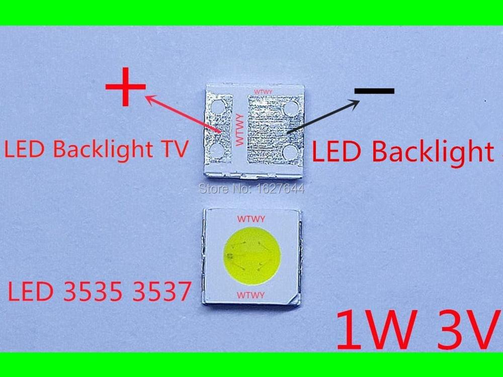 1000pcs UNI LED 3535 3537 LED Backlight TV High Power 1W 3V 90LM LED Backlight Cool
