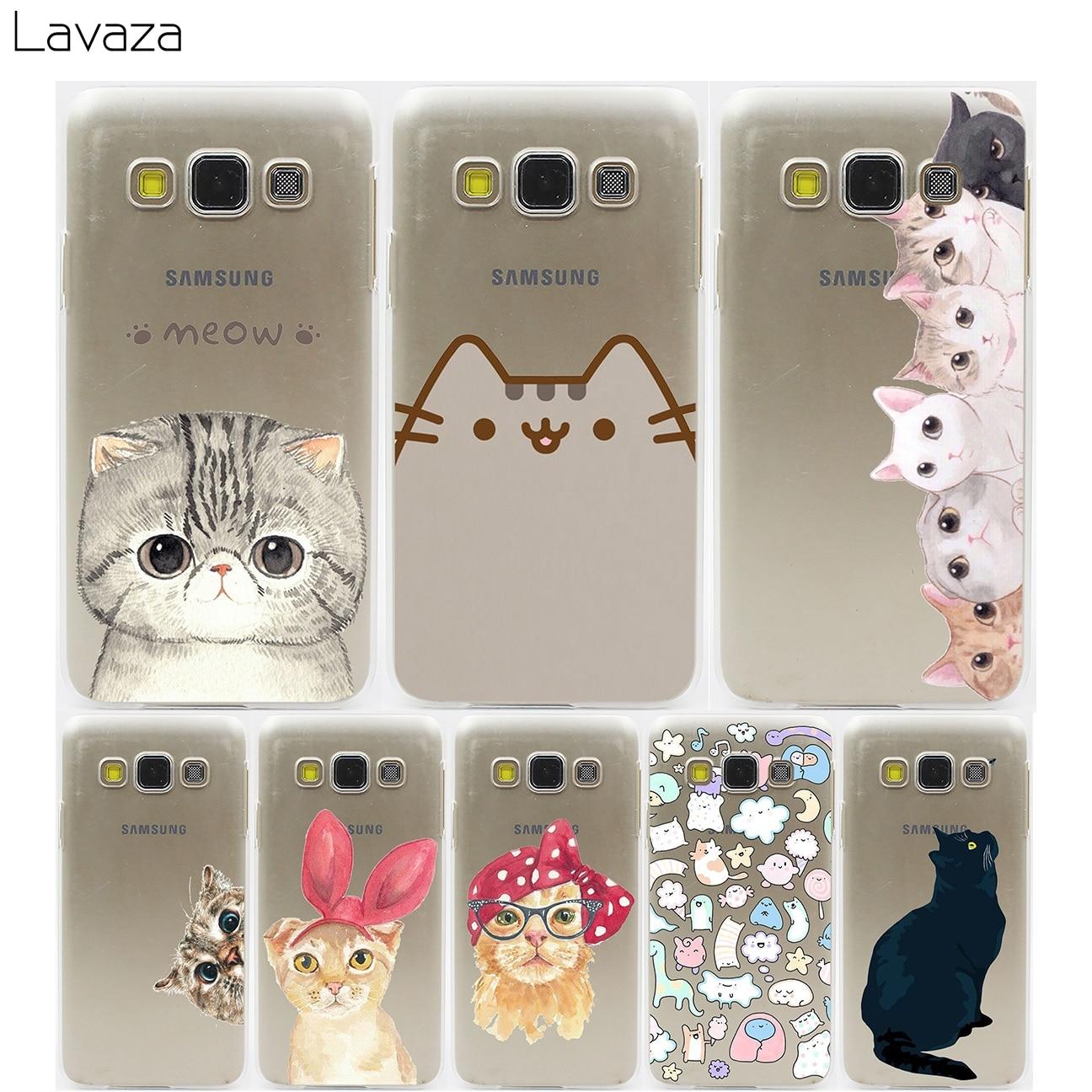 b83976159b4b21 Lavaza Mignon Chat avec Étui à Lunettes pour Samsung Galaxy A3 A5 A7 A8  2018 2017 2016 2015 Plus Note 2 3 4 5 8 Grand 2 premier