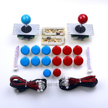 New Arcade DIY Kits Parts USB Encoders Board + 2x Sanwa Joysticks + Arcade Buttons To Raspberry PI Retropie 2 Project & PC Games