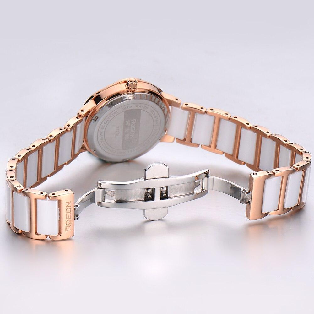 luksusowe zegarki damskie marki ROSDN damski zegarek na rękę - Zegarki damskie - Zdjęcie 5