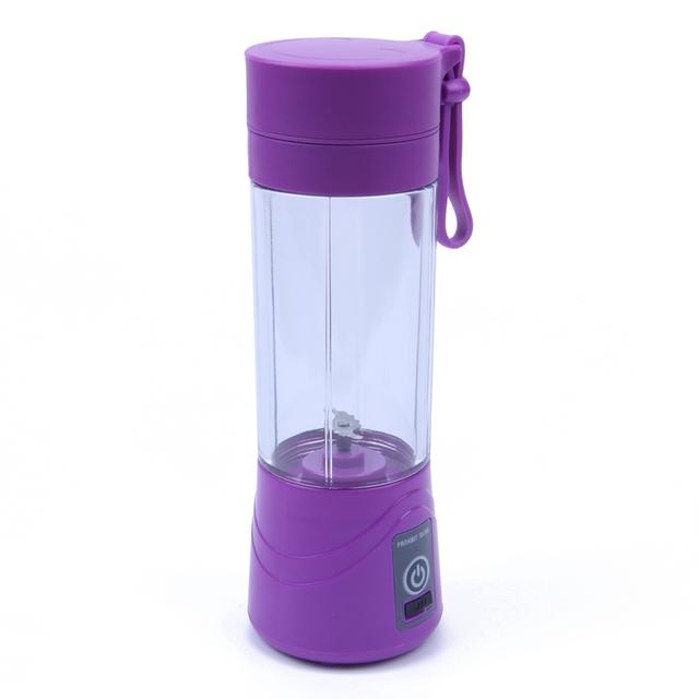 licuadora recargable USB de 380 ml Mini exprimidor portátil máquina de jugo de batidos