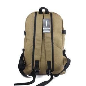Image 3 - New backpack men Fashion strap zipper solid casual bag male backpack school bag canvas bag designer backpacks for men backpacks