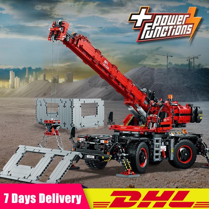 EN Stock Lepin 20085 Technique Grue Tout Terrain Compatible Legoing 42082 Blocs de Construction Briques Jouets Avec Batterie Boîte