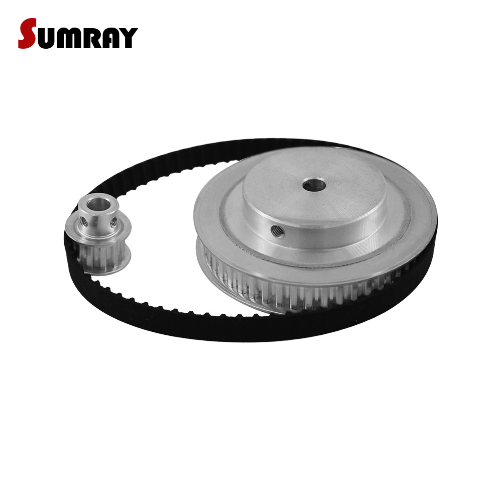 SUMRAY XL Timing Pulley Belt Set Reduction 1:5 XL 10T 50T 11mm Belt Width Bearing Pulley Wheel 144XL Timing Belt 1 SET цена