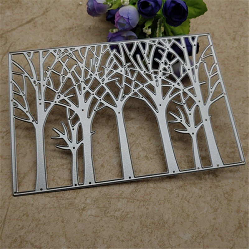 AOKEDIY Nice Tree Background Metal Cutting Dies