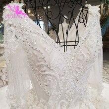 AIJINGYU חתונה שמלת כפרי לבן מחוך שמלות נסיכת שמלת שמלות כלה תחת 1000