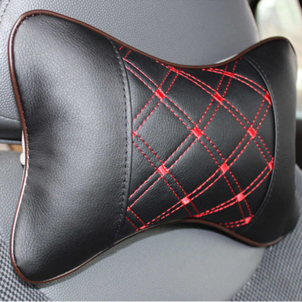PU & Cloth Dual Auto Safety Car Headrest Breathe Seat Head Neck Rest Pillow Universal Car Neck Pillow Drop Shipping