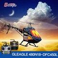 Gleagle 480N Combustível Helicóptero RTF RC Nitro Helicóptero 3D dublê (9CH RC/DFC Motor/15/60A ESC/corpo De fibra de Carbono)
