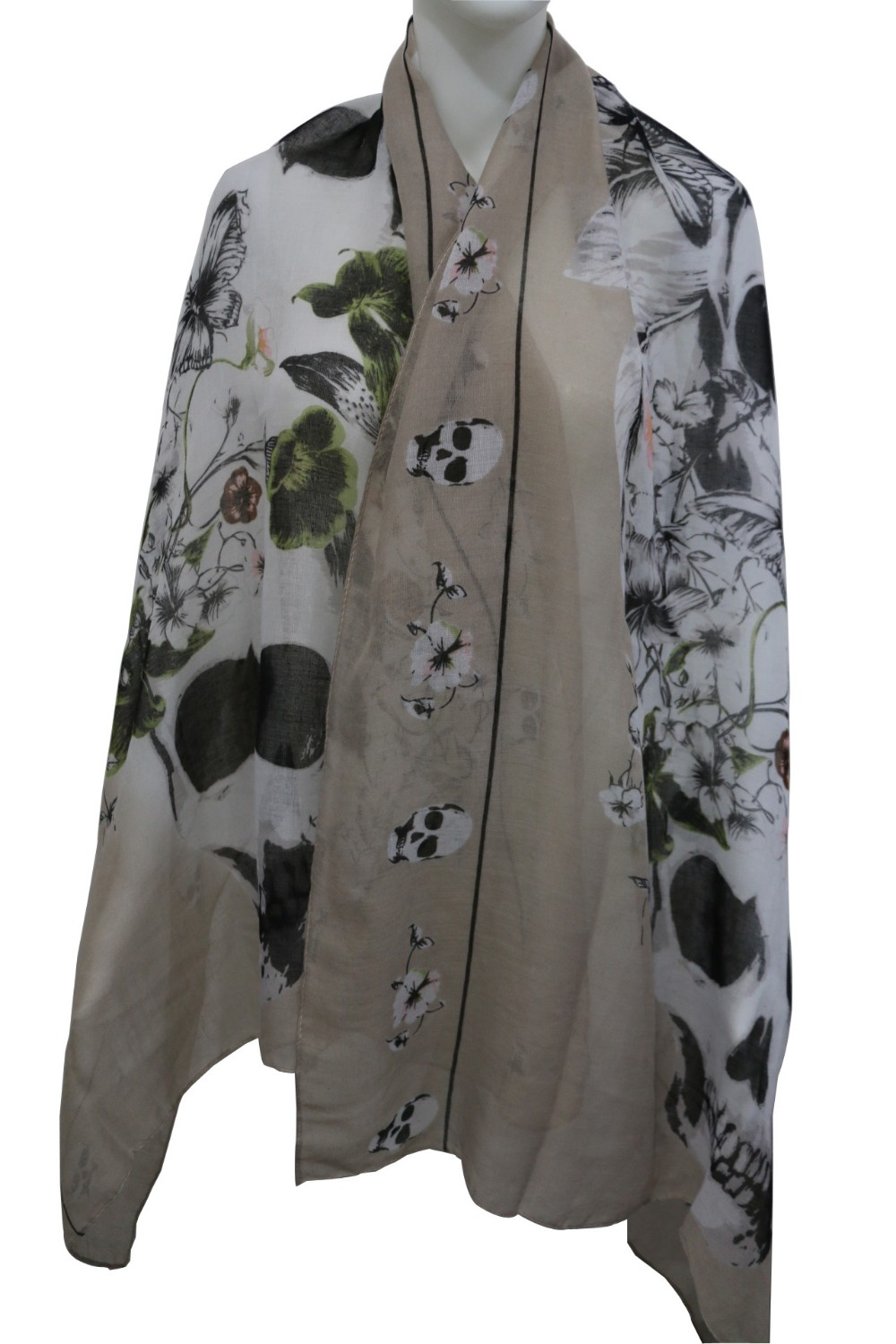 Punk Lady Skull Floral | Shawls and Wraps | Up to 60% Off Now