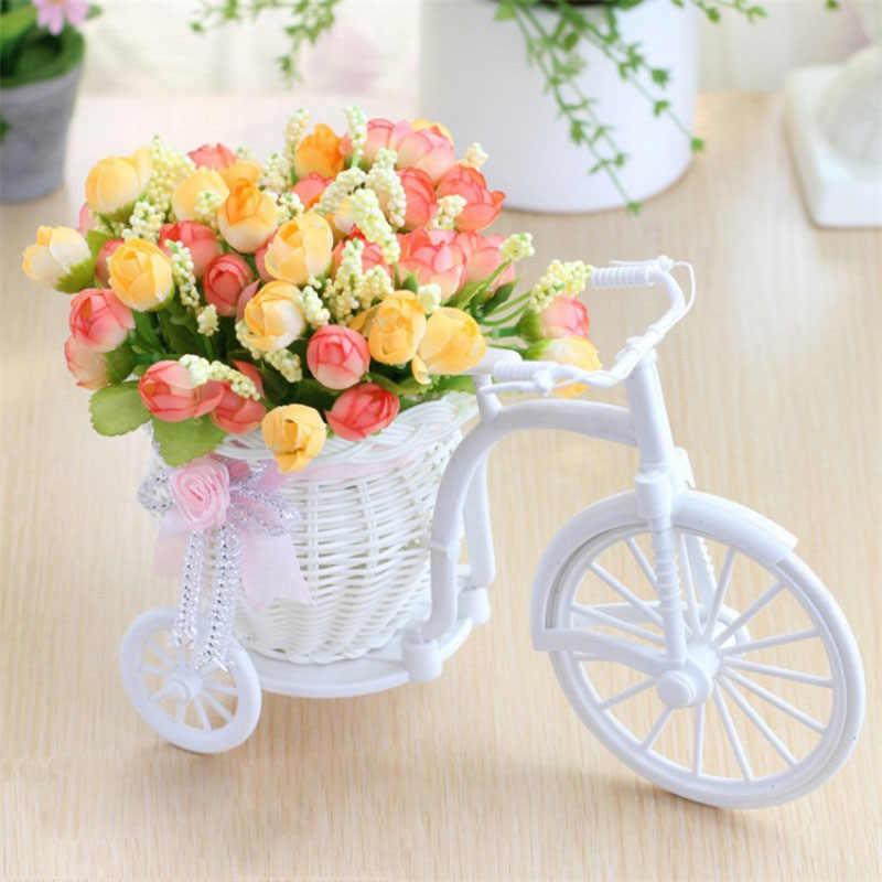 Bunga Buatan Sutra Bunga Mawar Plastik Sepeda Desktop Dekoratif Rose Tanaman Bonsai Fake Bunga Untuk Pernikahan Dekorasi Bunga Aliexpress