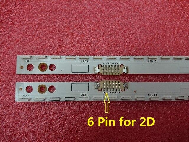 חדש 2 יח\סט 60LED 572mm LED רצועת תאורה אחורית עבור Samsung UE46ES5500 מזחלת 2012SVS46 7032NNB RIGHT60 LEFT60 2D