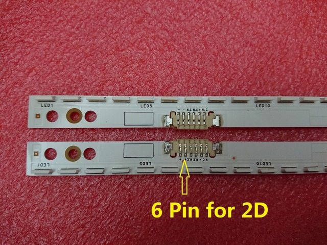 Neue 2 teile/satz 60LED 572mm led hintergrundbeleuchtung streifen für Samsung UE46ES5500 SCHLITTEN 2012SVS46 7032NNB RIGHT60 LEFT60 2D