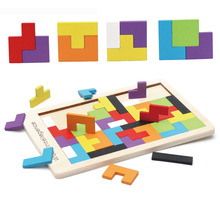 Fun Color Puzzle Wooden Game Educational Toys Cognitive Training Children Learning Intellectual Handmade Gifts
