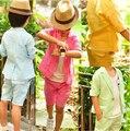 Розничная Летние Дети Комплект Одежды Корейский стиль мальчик Пиджаки костюмы детские & дети одежда набор пальто + брюки 2 шт. наряды детской одежды