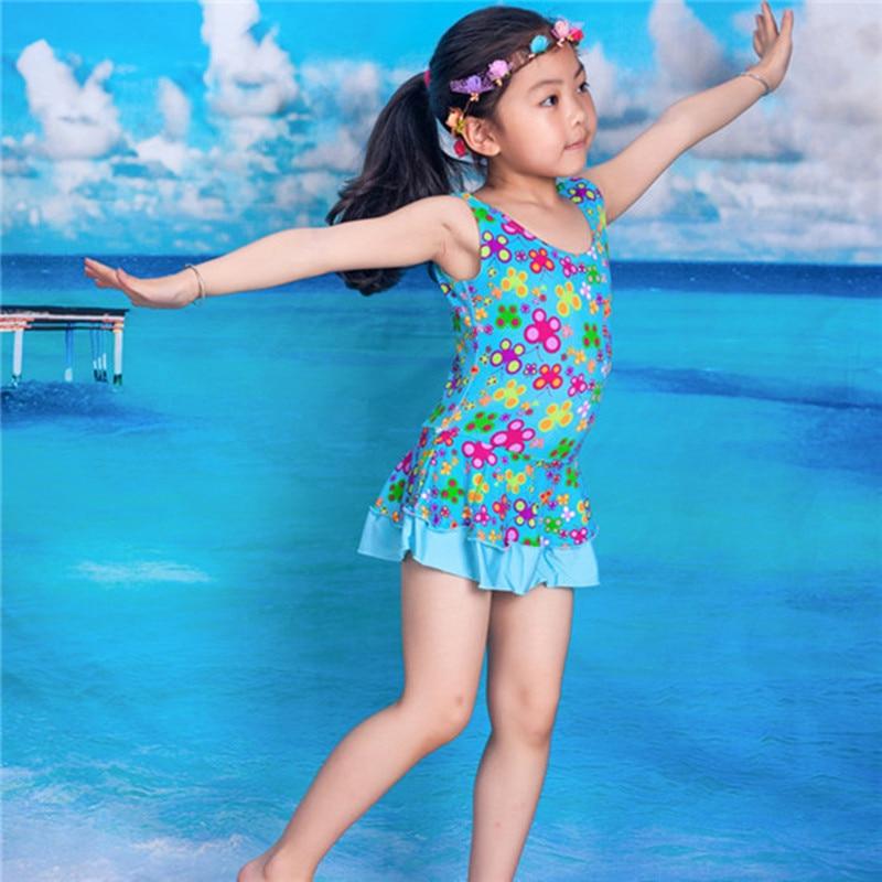 2016 girl one piece baby swimwear kids girls swim wear ...
