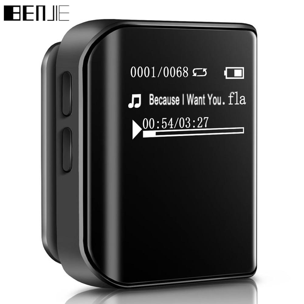 Mini 8GB MP3 lejátszó klip Sport MP3 zenelejátszó Eredeti BENJIE - Hordozható audió és videó