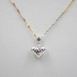 Yeni Varış Saf Au750 18 K Beyaz Altın kadın Kalp Kolye 1-1.3g sadece kolye