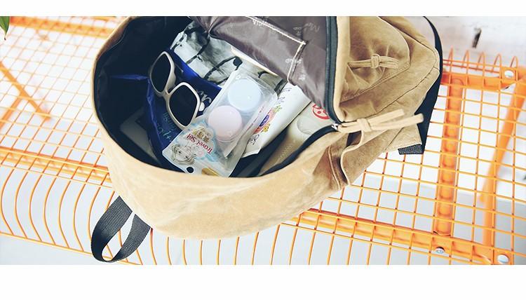 2016 New Women Backpack Preppy Style Suede Backpacks Teenage Girls School Bags Vintage Rivet Travel Backpack Burgundy Gray Black (67)