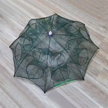 Automatic Fishing Net Trap Folded Hexagon 4 6 8 12 16 Holes Automatic Fishing Shrimp Trap Fish Shrimp Minnow Crab Baits Pesca(China)