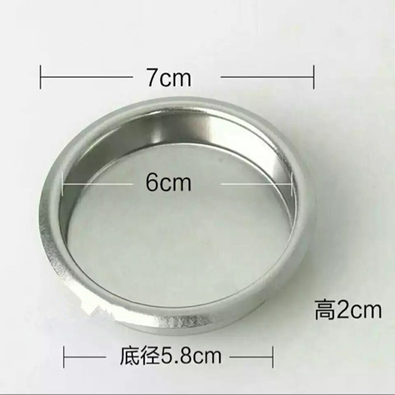 1pc Semi-automatic Coffee Machine Parts Backwash Bowl Coffee machine brewing head Clean Blind Bowl No Hole Filter Cup 58mm soft water filter delongi coffee machine spares spare parts for delft coffee machines