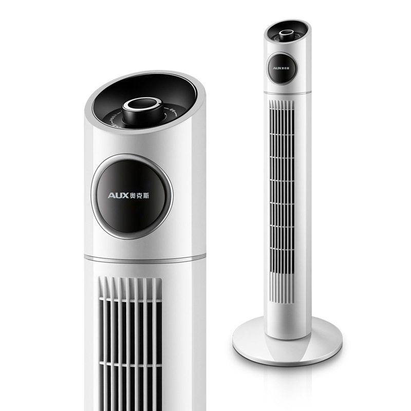 Bladeless floor fan stand tower mute ventilation fan air cool Pillar design bladeless family portable electric fans dropshipping