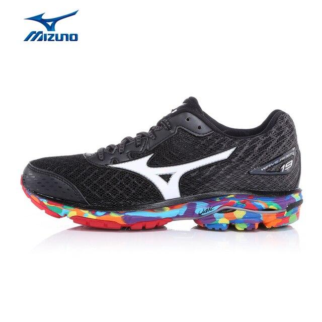 3c555016db7f0 Damskie MIZUNO WAVE RIDER 19 OSAKA Maraton Jogging Bieganie Buty  Amortyzację Światło Sneakers Buty Sportowe J1GD160870